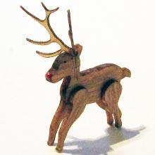 Finished 1/24th scale Christmas reindeer made from kit