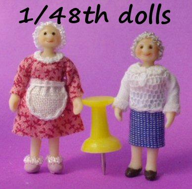 1/48th scale dolls