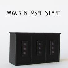 Finished 1/48th or quarter scale Mackintosh Style Counter Kit