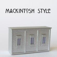 Finished 1/48th scale de Luxe Mackintosh Style Counter Kit